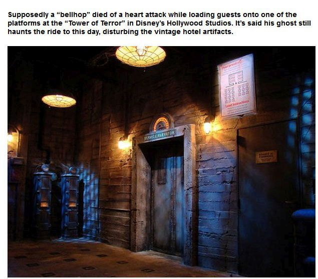 Attractions At Disney Parks That Are Believed To Be Haunted (9 pics)