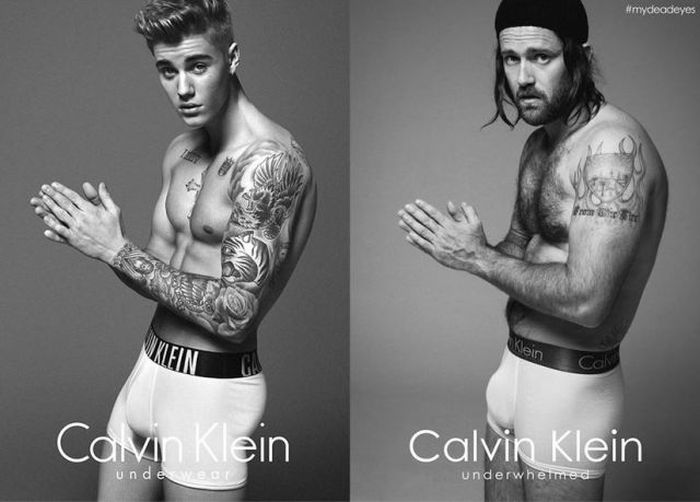 Hipsters Recreate Justin Bieber's Calvin Klein Photo Shoot (7 pics)