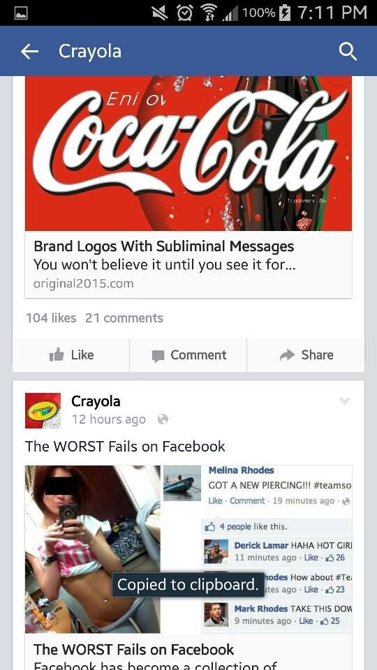This Is What Happens When Crayola's Facebook Page Gets Hacked (6 pics)