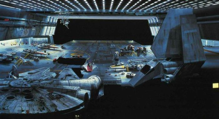 """Incredible Matte Paintings Used In Iconic """"Star Wars"""" Scenes (26 pics)"""