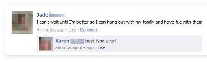 Facebook Typos Gone Horribly Wrong (18 pics)