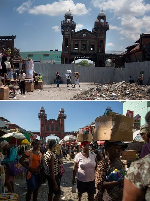 Haiti Before And After The Earthquake (7 pics)