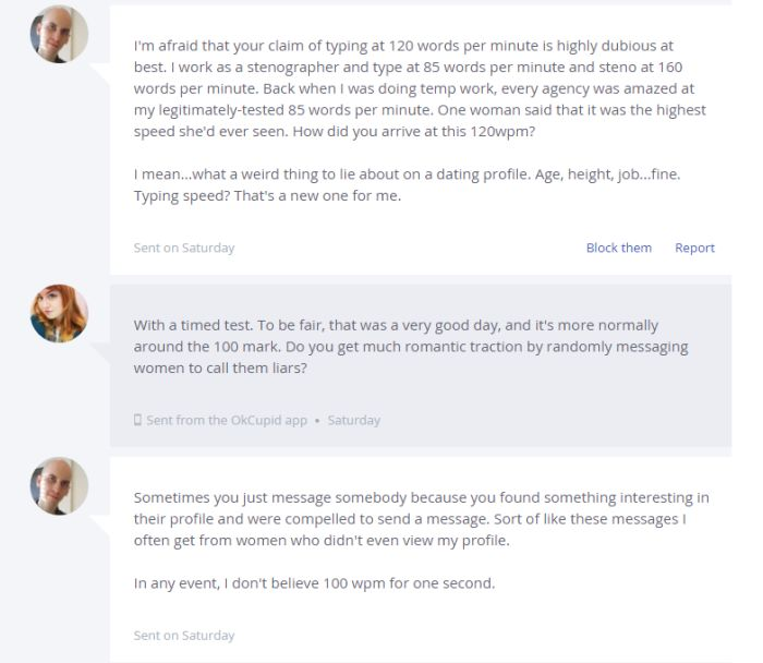 This Guy Got Completely Owned By A Woman On OK Cupid (2 pics)