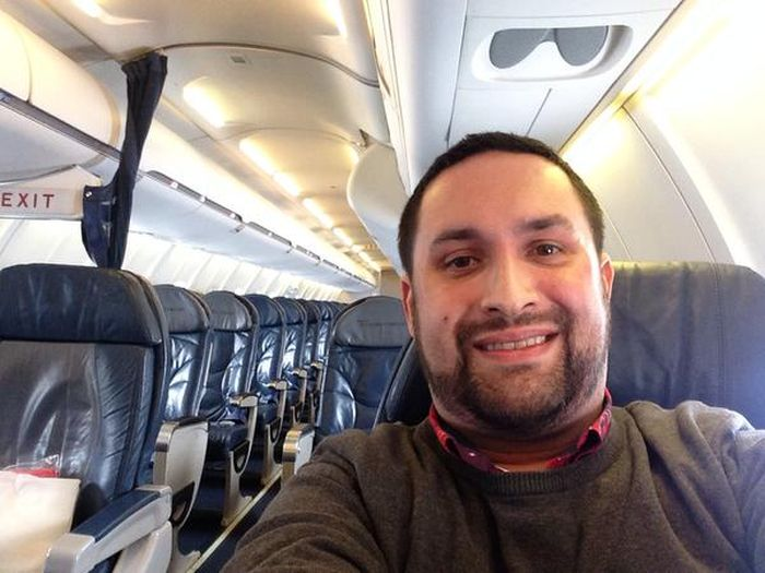 Forget First Class, This Guy Got The Plane To Himself (2 pics)