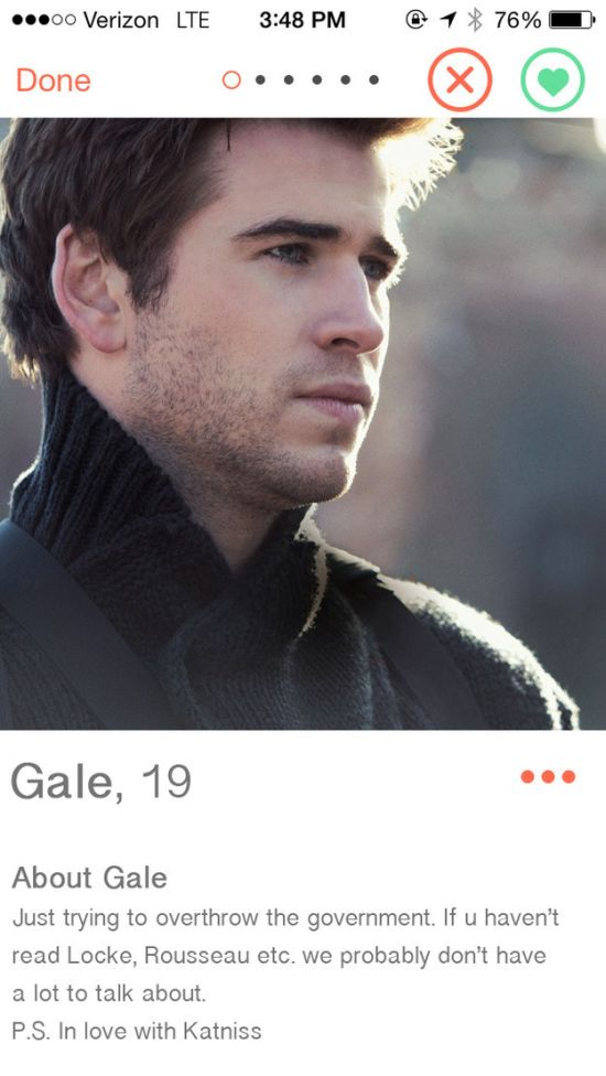 When Characters From The Hunger Games Get On Tinder (16 pics)
