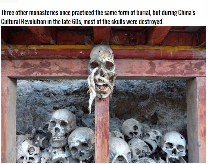 These Monks Have Built A Wall Out Of Human Skulls (7 pics)