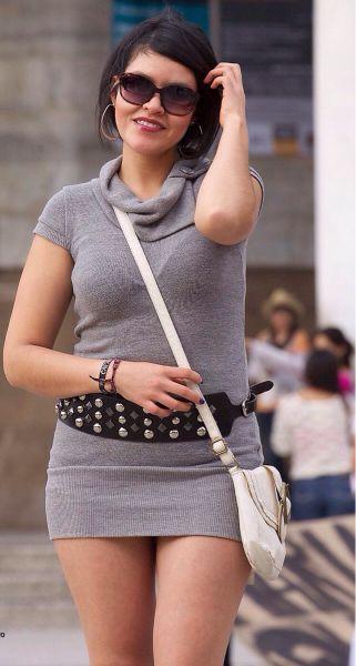 Nalgotas de mujer en mallon gris - 3 6