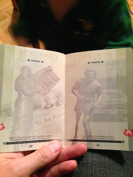 What The New Canadian Passport Looks Like Under A Black Light (18 pics)