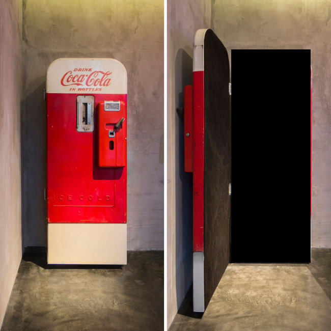There's Something Awesome Hidden Behind This Coke Machine (9 pics)