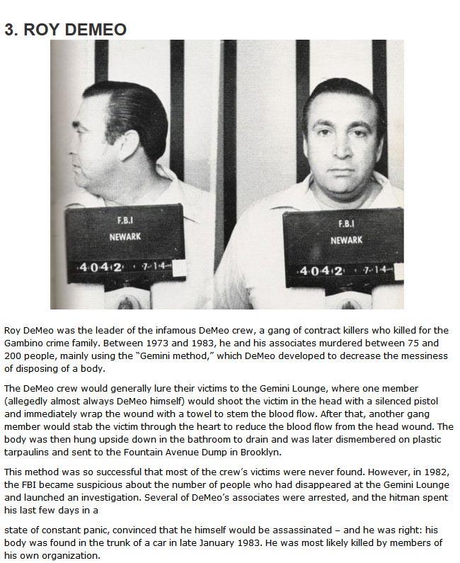 The 10 Deadliest Mafia Hitmen Of All Time (10 pics)