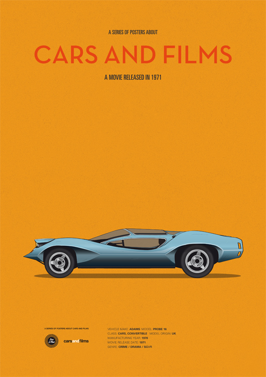 These Posters Are About Cars and Films (30 pics)