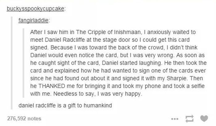 Proof That Daniel Radcliffe Is Awesome (2 pics)