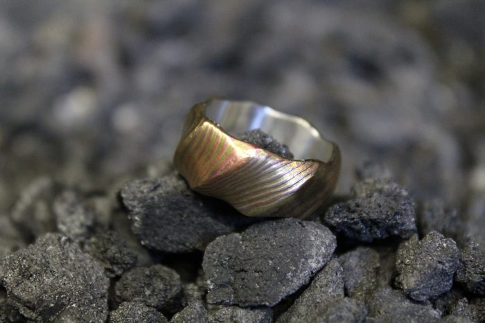 Wood Grain Metal Gets Turned Into A Ring (14 pics)
