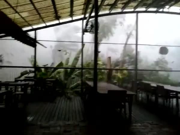 Hailstorm In Kuranda, Australia