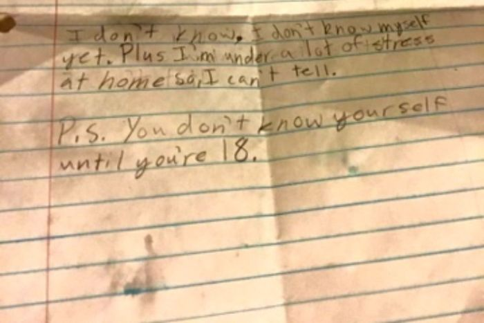 This Little Boy Has A Deep Response To His Secret Crush (2 pics)
