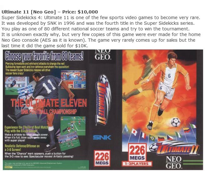 Rare Video Games That Are Worth A Small Fortune (12 pics)