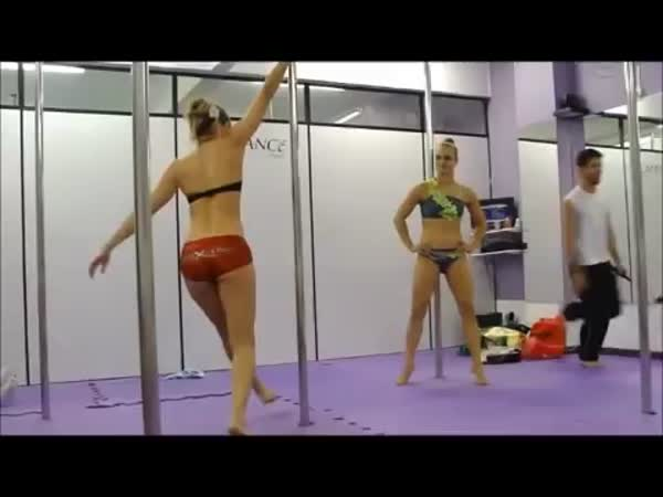 Pole Dancer Vs A Gymnast