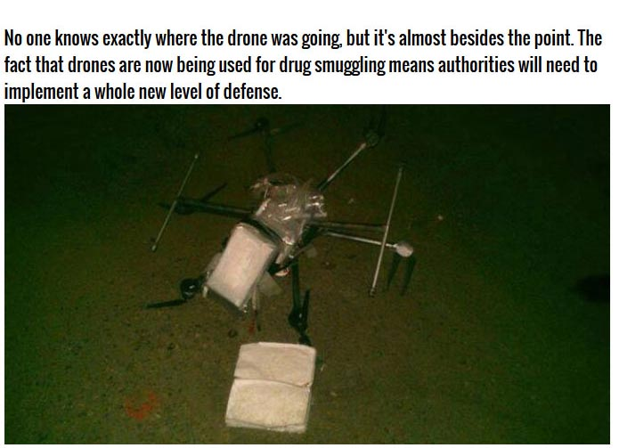 A Drug Carrying Drone (5 pics)