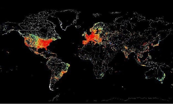 This Map Shows Internet Usage Around The World (5 pics)