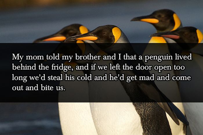 Cruel But Hilarious Lies Parents Tell Their Kids (17 pics)