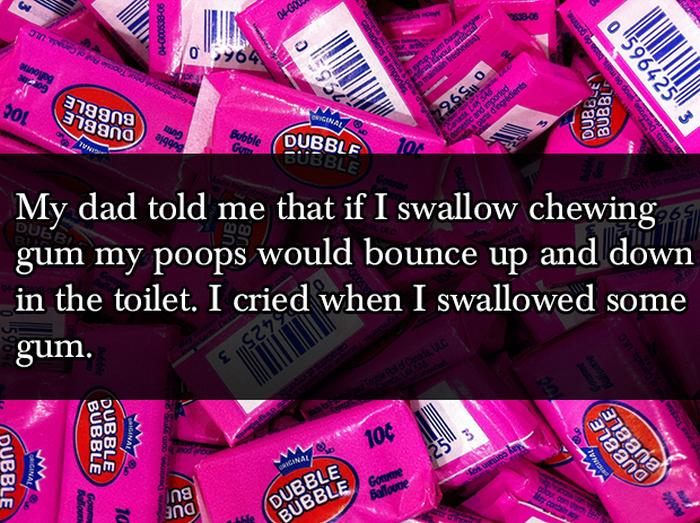 Cruel But Hilarious Lies Parents Tell Their Kids (17 pics)