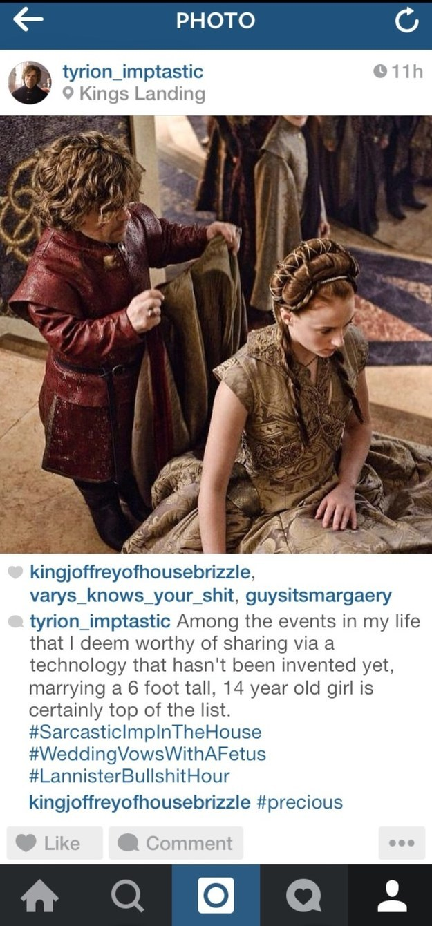 "If Tyrion Lannister From ""Game Of Thrones"" Was On Instagram (12 pics)"