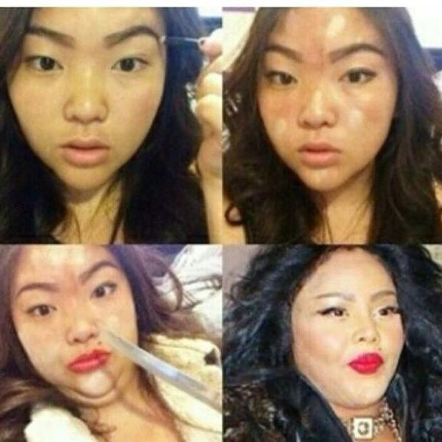"The Most ""Impressive"" Celebrity Makeup Makeovers (36 pics)"