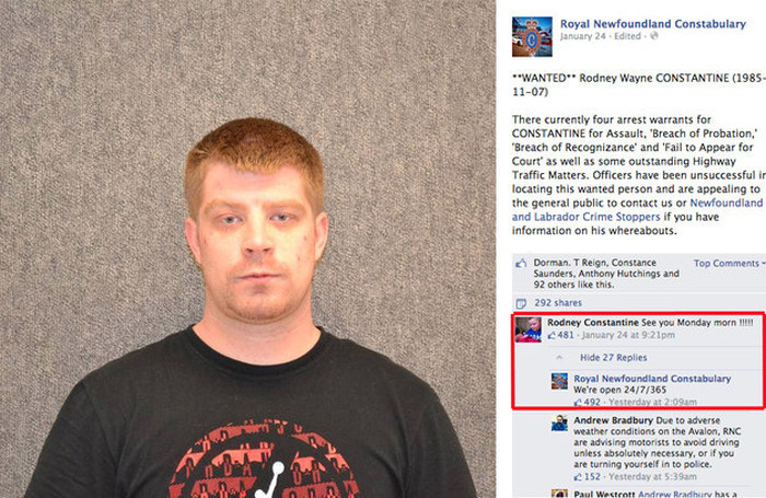 Wanted Man Turns Himself In On Facebook (3 pics)