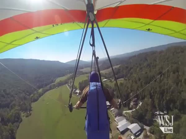 Man Crashes Hang Glider Into Cabin