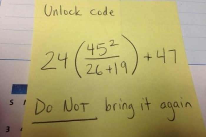 That's One Way To Teach Math (3 pics)