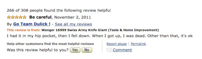 Hilarious Amazon Reviews For A Giant Swiss Army Knife (10 pics)