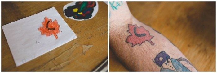 This Dad Gets All Of His Son's Doodles Tattooed On Him (10 pics)