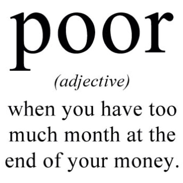 What It Really Means To Be Broke (25 pics)