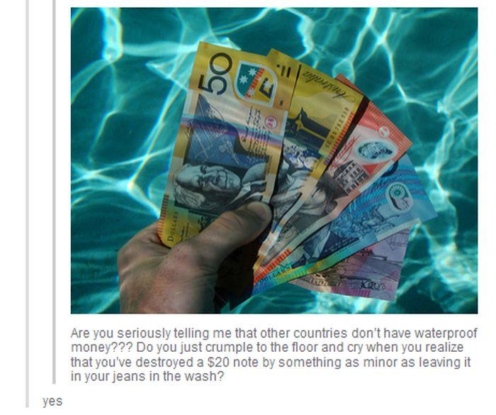Canadian Money Is Waterproof (4 pics)
