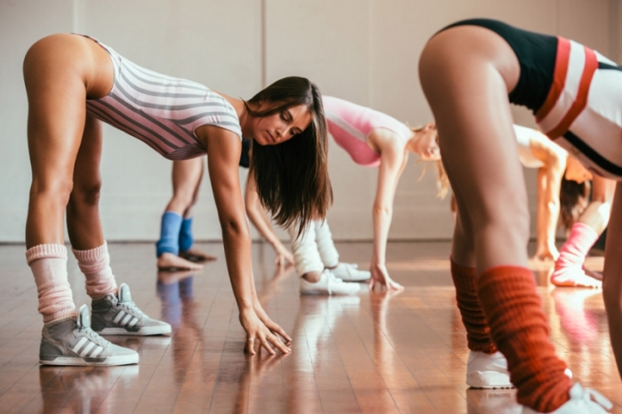 These Sexy Models Got Down On Some 80s Style Aerobics (25 pics)