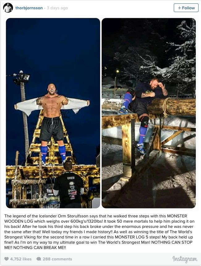 The Mountain From Game Of Thrones Just Broke A 1,000 Year Old Record (2 pics + video)