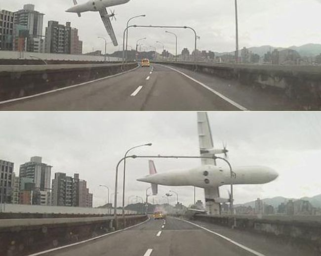 TransAsia Plane Falls Out Of The Sky Crashing Into A Taiwan River (11 pics + video)
