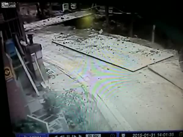 Water Pipe Burst In Taiwan