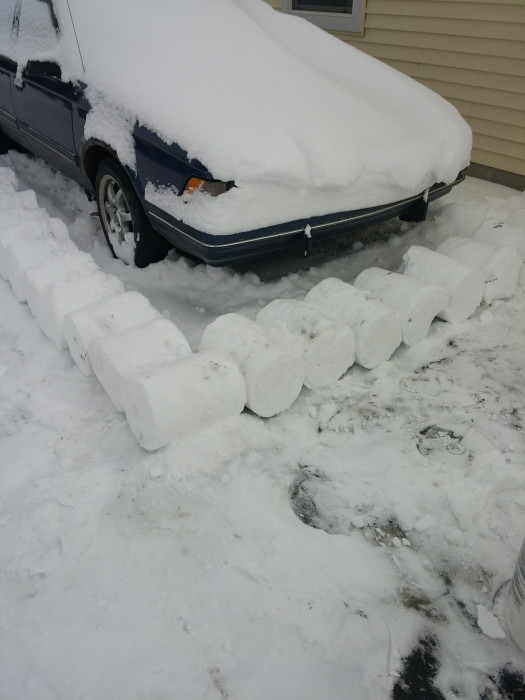 This Poor Guy Is Never Going To Get His Car Out (27 pics)