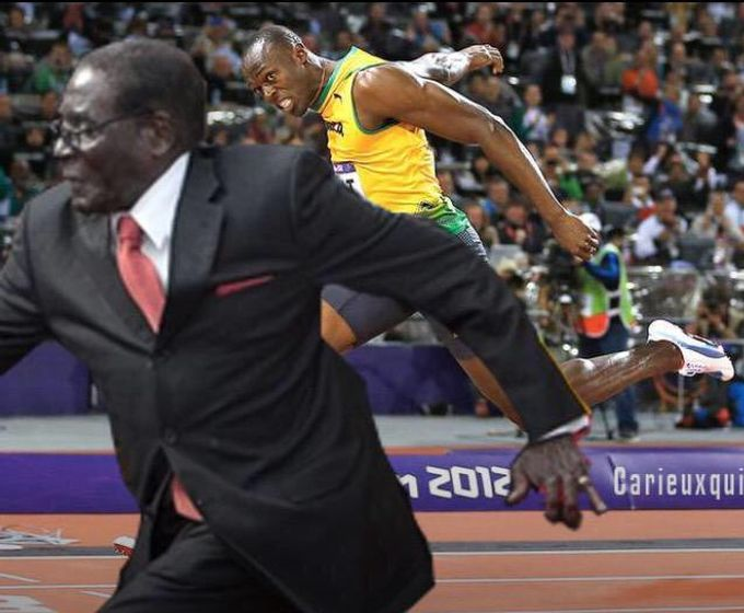Robert Mugabe Has Become A Sensational Meme With #MugabeFalls (20 pics)