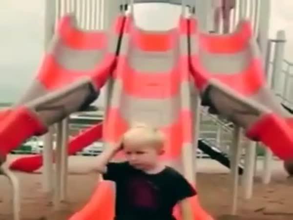 Kid Forgot How To Slide
