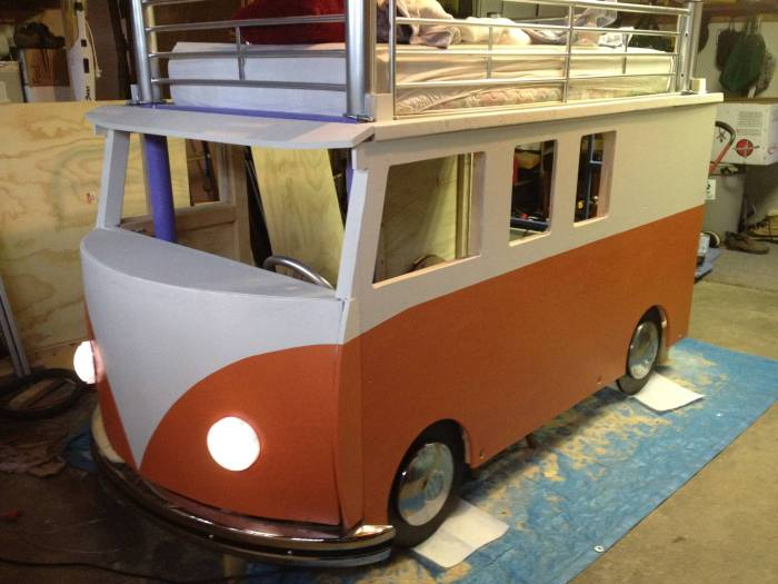 How To Build A VW Bus Bed For $100 (26 pics)