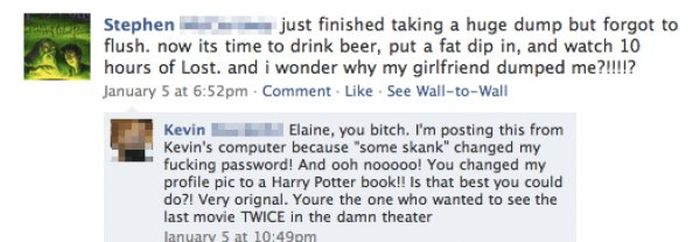 This Is What Happens When You Leave Your Facebook Logged In (13 pics)