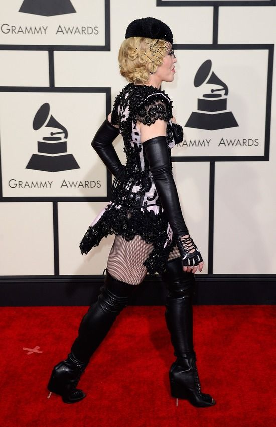 Madonna Gets As Madonna As Possible On The Red Carpet At The Grammys (7 pics)
