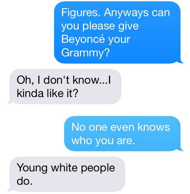 Kanye West Texts Beck Demanding He Gives His Grammy To Beyonce (8 pics)