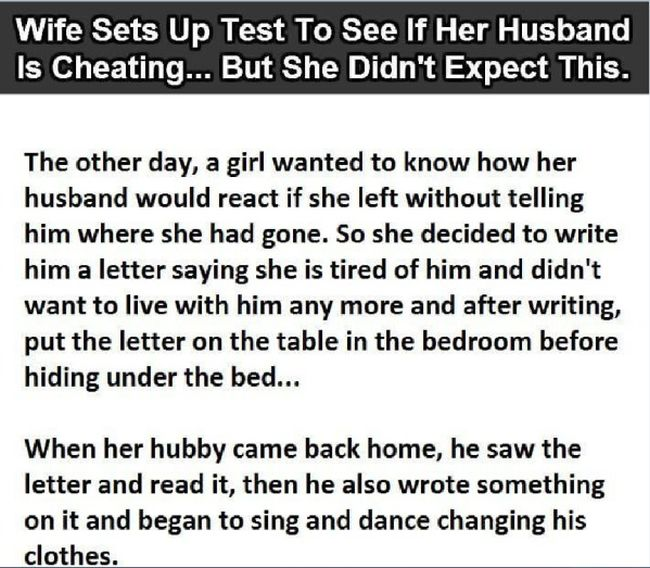 Wife Tries To Give Husband A Cheating Test And It Completely Backfires (2 pics)