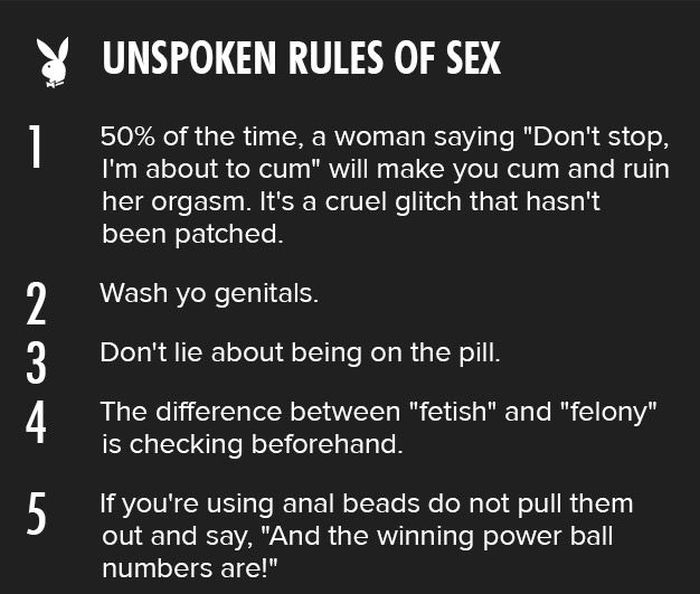 Playboy's Unspoken Rules Of Sex