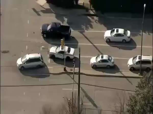 Unexpected Ending Of A Car Chase In Dallas