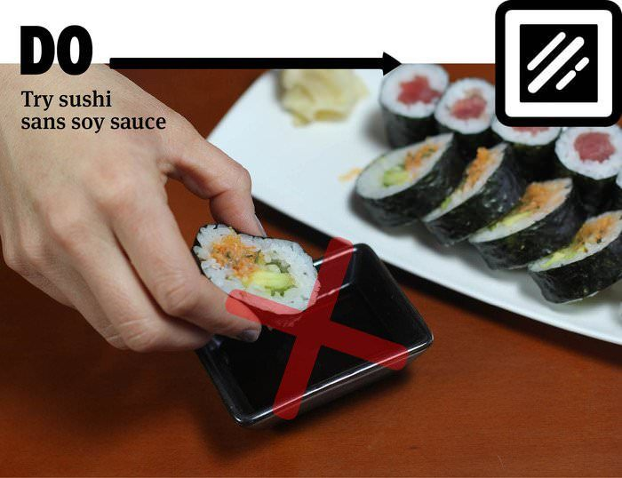 What You Should And Shouldn't Be Doing When You Eat Sushi (17 pics)