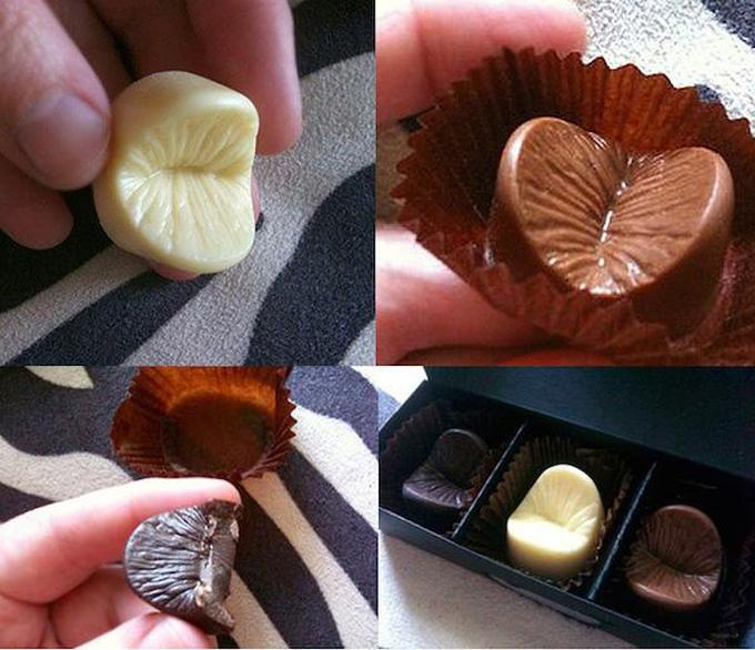 Give Your Lover A Piece Of Your Chocolate Covered Anus (7 pics)
